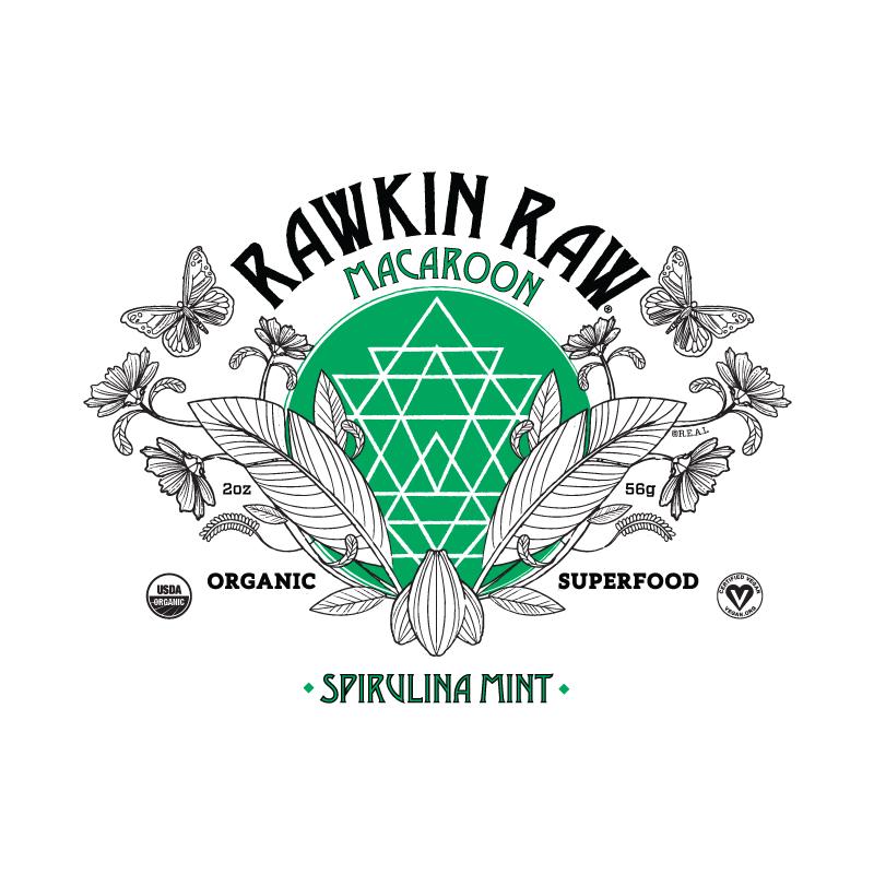 Organic Spirulina Mint Superfood Macaroon